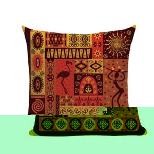 African Abstract Geometric Pillow II