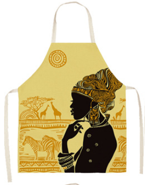 African Queen Cooking Apron - Black/Gold