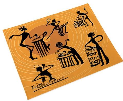 Tribe Musicians Place Mats - Orange (Set of 4)