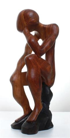 Thinker Wood Carving