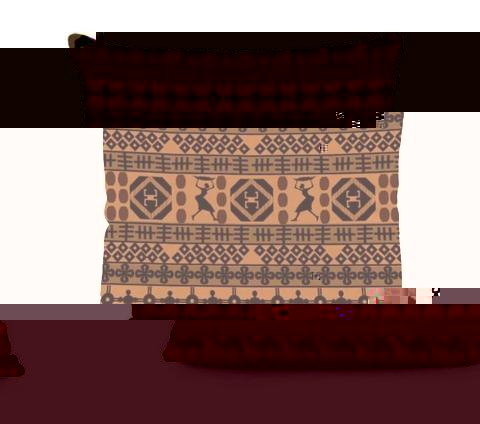 African Tribal Pillow - Brown